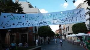 Pancarta arrancado y censurada por Sara Hernández